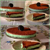 Mint and chocolate oreo cheescake by IllyDragonfly