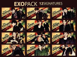 1# EXO SIGNATURE PACK by parkninoca