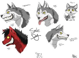 Smile dog concept art by Inkswell