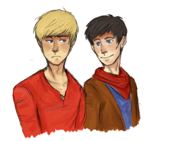 Merlin and Arthur by ThatsjuststupidChris