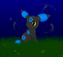 Shiny chibi umbreon by luna-the-umbreon