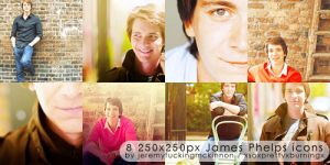 8 James Phelps icons by pukingpastilles