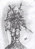 Barbarian Warrior (Shaded) by Oxide23