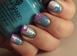 Gradient with paisley print and glitter! by Ithfifi