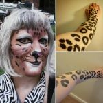 Realistic Leopard makeup-first try by toberkitty