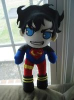 90's Superboy Plush WIP by rosey-so-silly