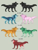 Gem Wolves adopted. by StarkHolmes