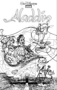 ALADDIN POSTER outlines by JFulgencio