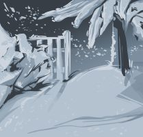 winter sketch by Dil3mma
