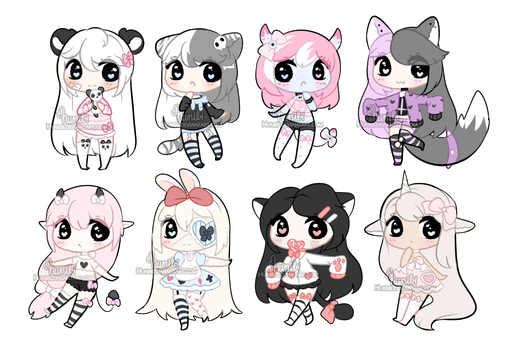 +Chibi Mix Adoptables 36 [ OPEN ] (1/8) + by Hunibi