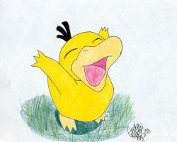 A Happy Psyduck by darkraven2116