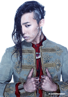 G-Dragon (Big Bang) PNG Render by classicluv