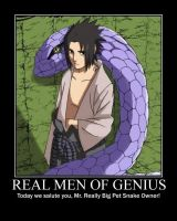 Real Men Of Genius - Sasuke by grimmjack