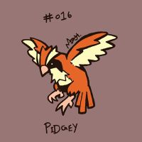 016 Pidgey by toadcroaker