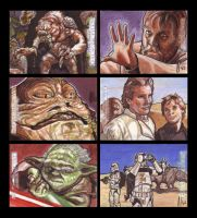 Star Wars Galactic Files Sketch Cards from Topps12 by LeeLightfoot
