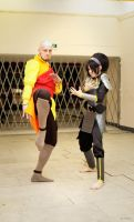Adult Toph and Aang cosplay by TophWei