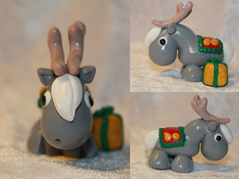 Christmas Reindeer (Grey) for SALE by AnimalisCreations