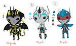 Point Adoptibal chibis set 1~{Closed} by Scrapper-Girl