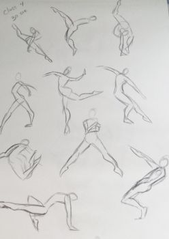 Life Drawing - 30 second gestures 2015 by BethanyAngelstar