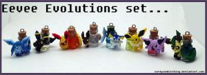 Eevee Evolutions Bottle Art Set by Crazy8zCharmz