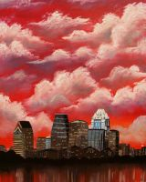 Clouds over Austin by Woolf20