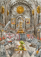 ACEO Hyrule Castle by Eternal-Rainbow