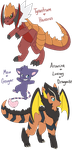 Pokemon Custom Fusions for OmegaCrafter17 by GhostBunny-X