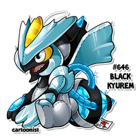 Black Kyurem Patchwork by cartoonist