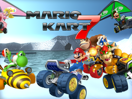 Mario Kart 7 Winter Wallpaper by philipscott