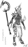 Stormcall Soraka Concept Sketch by Dargonite