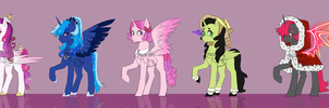 Alicorn PayPal Adoptables (UPDATED) by Pikokko