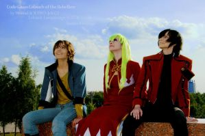 CODE GEASS:happy three friends by KoujiAlone