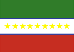Flag of the United States of North Caucasus by Coliop-Kolchovo