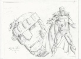 Magneto vs a Sentinel!! by craig1992