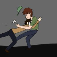 Masky Tackling Jay (for lack of a better title) by 15MadyCat