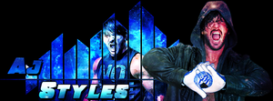 AJ Styles Signature Banner by DigiRadiance