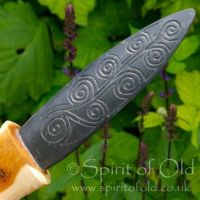 Slate and yew athame by Spirit Of Old by SpiritOfOld