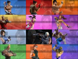 PSP background pack - Tekken 5 by Filps