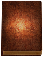 Old Leather Book PNG by Reliquo
