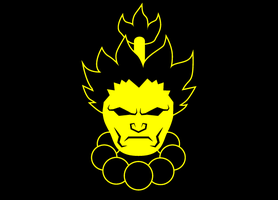 UMvC3 Icons - Akuma with Beads by mrbrownie