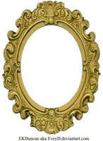 Ornate Gold Frame - Oval 1 by EveyD