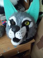 Shyra fursuit head WIP 4 by AlieTheKitsune
