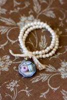 Blueberry and Raspberry Cookies Pearl Bracelet by MiniSinLove
