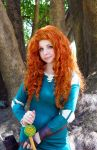 Brave cosplay: Princess Merida by Thecrystalshoe