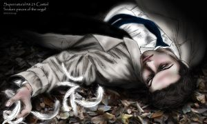 SPN S8.23 Castiel :  broken pieces of the angel by noji1203