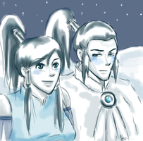 Teen Noatak x Korra : Night by thefuzzysweater