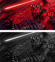 Darth Maul by blackdx