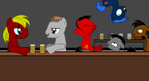 Imperial and Jet - At the bar sharing stories by Imp344