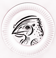 Paper Plate Chickensaur by Furrama