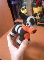 Simplified Houndour Plush by Vulpes-Canis